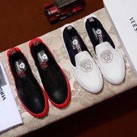 2018 new Versace leather casual shoes men's shoes