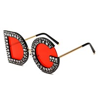 D&G Fashion New Polarized Letter Print Glasses Eyeglasses Women