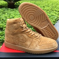 Air Jordan 1 Retro Wheat Basketball Shoes 36-47