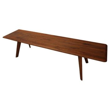 Pre-owned Carl Bissman Solid Walnut Mid-Century Coffee Table