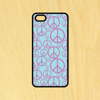 Peace Sign Pattern Phone Case iPhone 4 / 4s / 5 / 5s / 5c /6 / 6s /6+ Apple Samsung Galaxy S3 / S4 / S5 / S6