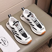 prada men fashion boots fashionable casual leather breathable sneakers running shoes 74