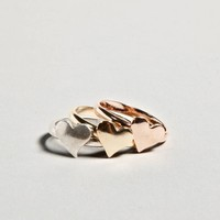 AEO Stacked Heart Rings | American Eagle Outfitters
