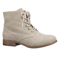 Sam Lace Up Canvas Boot - Gray