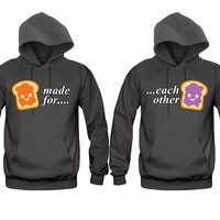 Made For Each Other Sandwich Unisex Couple Matching Hoodies
