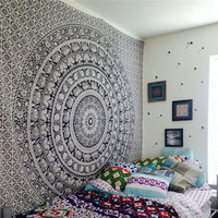 Indian Bohemian Mandala Tapestry Wall Hanging Sandy Beach Picnic Throw Rug Blanket Camping Tent Travel Mattress Sleeping Pad