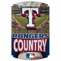 """TEXAS RANGERS COUNTRY WOOD SIGN 11""""x17"""" BRAND NEW  SHIPPING WINCRAFT"""