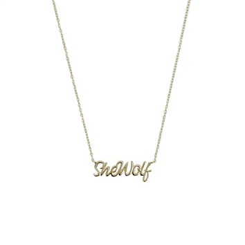 SheWolf Gold Necklace