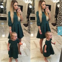 Matching mommy & daughter classic dresses