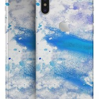 Blue Watercolor on White - iPhone X Skin-Kit
