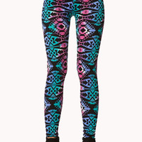 Punchy Tribal Print Leggings
