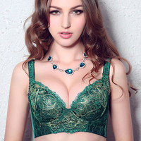 Fashion Bella Brand 2014 New Sexy Push Up Bra Luxurious Embroider Sexy Bras Brassiere Intimates FOR Young Girl Women Underwear-in Bra & Brief Sets from Apparel & Accessories on Aliexpress.com
