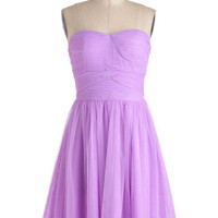 ModCloth Short Strapless A-line, Ballerina The Prettiest Pixie Dress