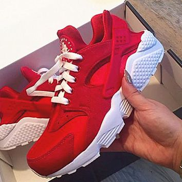 Tagre™  NIKE Huarache Red White Soles Casual Shoes Sneakers Sapphire blue G-AA-SDDSL-KHZHXMKH