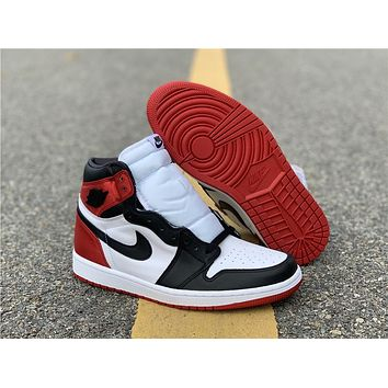 Air Jordan 1 Satin Black Toe CD0461-016