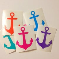 Anchor Car Decal Anchor Monogram Decal Monogram Anchor Vinyl Decal Monogram Gift Monogram sticker Car sticker Car Initials Vinyl Initials