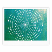 "Matt Eklund ""Atlantis"" Teal Geometric Fine Art Gallery Print"
