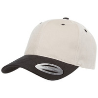 FlexFit Mid Profile Brushed Cotton Twill 2-Tone Velcro Baseball Cap