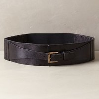 Stable Gate Corset Belt by Anthropologie Black