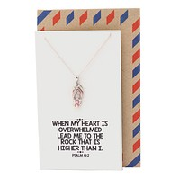 Fight Breast Cancer Jewelry, Cancer Awareness Necklace - 10% donated to NBCF