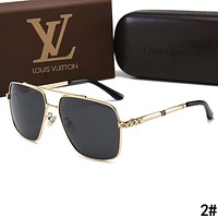 LV Louis Vuitton Summer Men Popular Sun Shades Glasses Sunglasses 2#