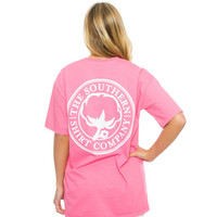 Seaside Logo Tee in Lilly Pink by The Southern Shirt Co.