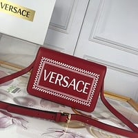 2020 New Office VERSACE size 24-16-6 cm Women red Canvas Saddle back pack travel bags Monogram Handbag Neverfull Bags Tote Shoulder Bag Wallet Purse Bumbag Discount Cheap Bags Best Quality