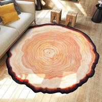 Pastora Annual Ring Round 3D Carpet For Bedroom Computer Chair Area Rugs Children Bedroom Play Mat Coffee Table Mat