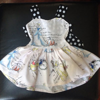 Baby/toddler disney fashionable princess print twirly dress newborn to 5t available