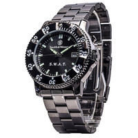 Smith & Wesson SWAT Watch with Black Metal Strap