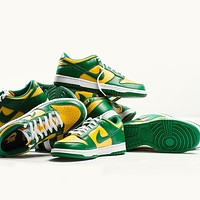 Nike SB Dunk Low SP Brazil all-match low-top flat sneakers for men and women