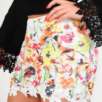 Nothing But Flowers Skirt: Multi