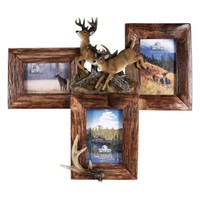 3 Picture Deer Firwood Frame