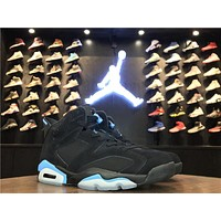 Nike Air Jordan 6 Retro Black UNC Men Sneakers 384664-006