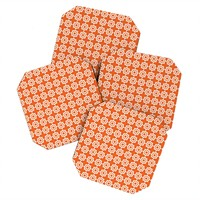 Khristian A Howell Moroccan Mirage Orange Coaster Set