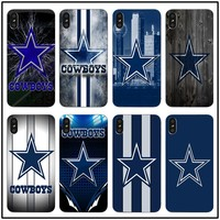Silicone Soft Clear TPU Silicone Mobile Phone Cases Dallas Cowboys Glitter Luxury Coque for iphone 7 8 plus 6S X 5 6 5S SE 6PLUS