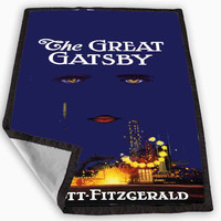 F SCOTT Fitzgerald - The Great GATSBY Blanket for Kids Blanket, Fleece Blanket Cute and Awesome Blanket for your bedding, Blanket fleece **