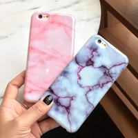 Retro Marble Stone Case Cover for Apple iPhone 7 5s 5 SE 6 6S 6 Plus 6S Plus  16090103