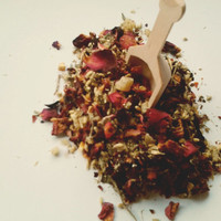 Rose Ginger Yarrow Elixir Loose Tea, a Refreshing and Invigorating Floral Tea with Rosehips and Hibiscus
