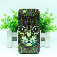 Fashion Cool Trippy Colorful Cat Animal Hard Back Cover Case For Apple iPhone 5C