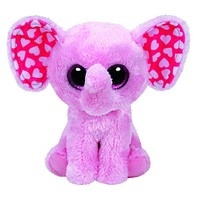 """Pyoopeo Ty Beanie Boos 6-Inch Sugar Elephant Pink 6"""" Beanie Baby Plush Stuffed Doll Toy Collectible Soft Big Eyes Plush Toys"""