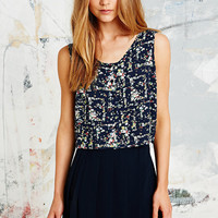 Cooperative Ditsy Print Tank in Navy - Urban Outfitters