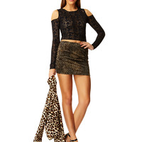 Faux Real Wild Cat Fur Mini Skirt