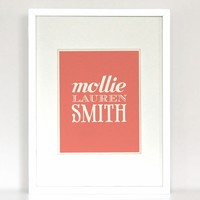 The Name Game Carnival Personalized Art Print