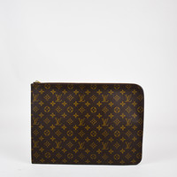 "Louis Vuitton Brown Coated Canvas ""Poche Documents Portfolio"" Case"