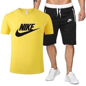 Nike summer trend casual short-sleeved top + shorts two-piece suit
