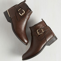 Minimal Press Release Posh Bootie in Espresso