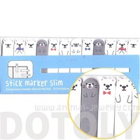 Polar Bears and Sea Lions Shaped Arctic Animal Themed Sticky Post-it Memo Bookmark Tabs