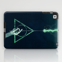 Harry Potter deathly hallows voldemort expecto patronum art painting iPad Case by pointsalestore