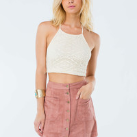70s Babe Faux Suede Mini Skirt